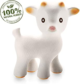 caaocho Pure Natural Rubber Baby Teether Toy – Sola The Goat – Without Holes..