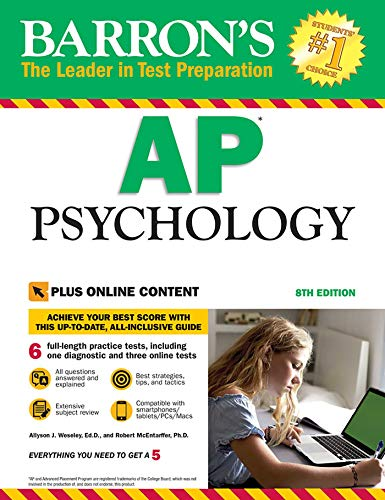 Barron's AP Psychology, 8th Edition: with Bonus Online Tests