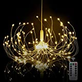 Starburst Light, Firework Lights 180 LEDs | Starburst LED Fairy Lights | Battery Operated Chandelier Light | Hanging Decorative Lights for Party Garden Patio Bedroom,DIY Indoor/Outdoor Using