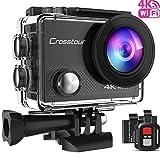Crosstour Caméra Sport 4K Ultra HD Wi-FI 20 MP LDC avec Télécommande Appareil Photo Étanche 30M...
