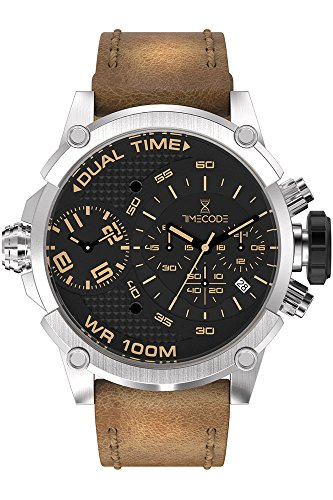Timecode Marconi 1896 Herren-Armbanduhr Chronograph Dual Time Quarz TC-1002-15