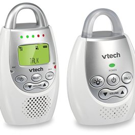 VTech DM221 Audio Baby Monitor with up to 1,000 ft of Range, Vibrating Sound-Alert, Talk Back Intercom & Night Light Loop