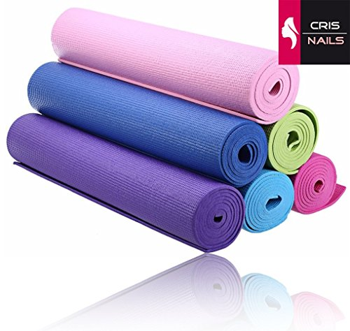 Crisnails® Esterilla Fitness de Ejercicio, Alfombra de Yoga, Colchoneta de Gimnasia, Fino...