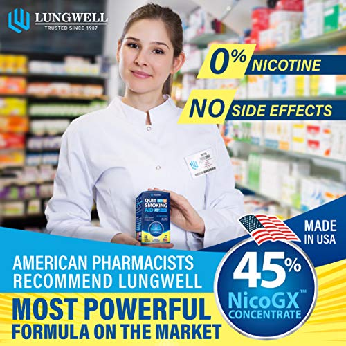 Quit Smoking Aid - Lung Cleanse & Detox Pills - Made in USA - Helps to Clear Lungs & Stop Smoking - Infused with Mullein & L-Tryptophan for Lung Detox & Stress Relief - COPD & Asthma Relief 2 - My Weight Loss Today