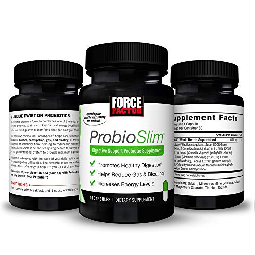 ProbioSlim Probiotic and Weight Loss Supplement for Women and Men with Probiotics, Burn Fat, Lose Weight, Reduce Gas, Bloating, Constipation, and Support Digestive Health, Force Factor, 180 Capsules 4