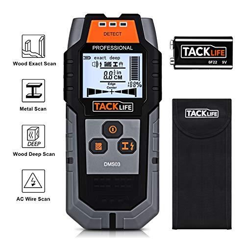 Rilevatore di Metallo e Cavi Elettrici TACKLIFE DMS03 Scanner Digitale Portabile Multifunzioni Scan...