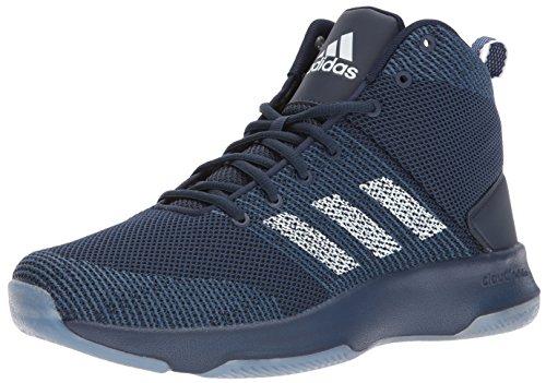 adidas NEO Men's CF Executor Mid Basketball-Shoes, COLLEGIATE NAVY/WHITE/MYSTERY BLUE, 8 Medium US