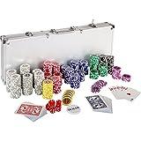 Maxstore Ultimate Pokerset con 500 Chips láser 12 Gramos núcleo de Metal, póquer, Set fichas de póquer, Maletas, fichas