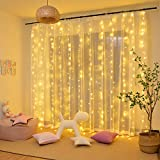 Rideau Lumineux, Guirlandes Lumineuses 300 LED 3m*3m,8 Modes d'Eclairage,...