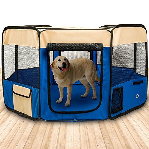 BIGWING Style Box per Cani Recinzione per Cuccioli Grande recinto per Animali da Usare all'Interno e...