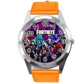 Taport - Reloj de piel para fanáticos de Fortnite, color naranja