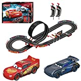 Carrera GO!!! Disney Pixar Cars Speed Challenge Racing Track Game Toy Play Set with Slot Cars, 16 Foot Track, Lap Counter, & Speed Controllers