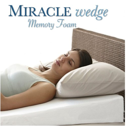 Memory Foam Wedge Pillow for Acid Reflux. Visco Wedge Pillow for Gerd, Snoring. 24' L, 24' W, 7.5' H