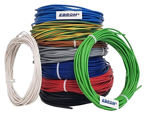 Aderleitung - Einzelader flexibel - PVC Leitung - H07V-K 1,5 mm² - Farbe: braun 10m/15m/20m/25m/30m/35m/40m/45m/50m/55m/60m bis 100 m frei wählbar