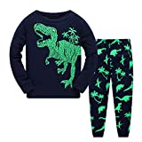 Qzrnly Little Boys Pajamas Christmas Pajamas Sets Kids Halloween 2 Piece Cotton Pjs Dinosaurs Toddler Sleepwear