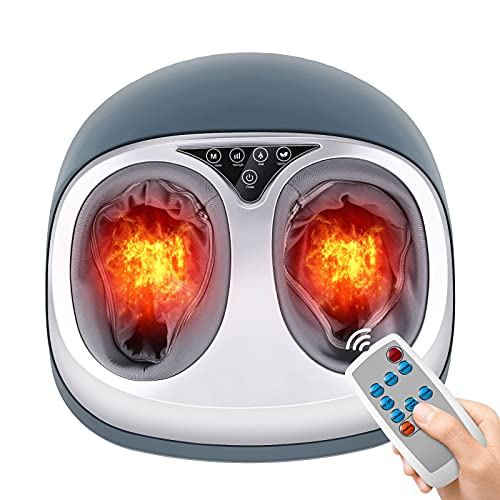 Foot Massager with Heat, Shiatsu Kneading Foot Massager, Multi-Level Settings, Delivers Relief for Tired Muscles and Plantar Fasciitis, Ideal Gift for Parents