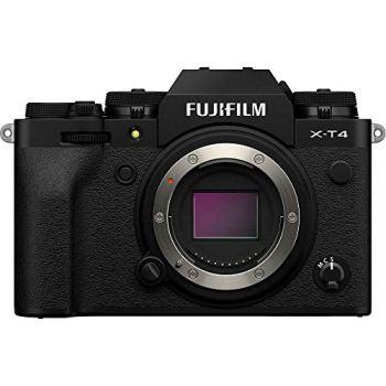 Câmera mirrorless fujifilm x-t4 4k, bluetooth e wi-fi (corpo preta)