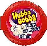 HUBBA BUBBA Bubble Tape accrocheur, chewing-gum fraise 1,8 m (Pack de 12)