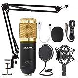 ZINGYOU Microphone à Condensateur Kit, BM-800 Micro Studio Streaming...