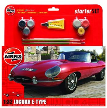 Airfix A55200 Jaguar E-Type Starter Set, Medium