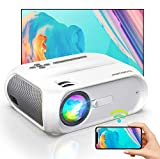 WiFi Mini Projector, HD 1080P and 300'' Display Supported, 150 ANSI Lumen Portable Wireless Movie 4K Projector Home Theater LED HD Projector, Wireless Mirroring for iPhone/TV Stick/PS4/DVD/Android