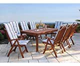 GRASEKAMP Qualität seit 1972 Gartentisch 200x100cm Natur Esstisch Holztisch Gartenmöbel Eukalyptus - 5