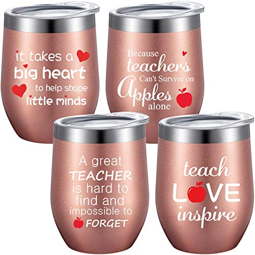 4 Pieces Thank You Teacher Gift Coffee Mug, Personalized...