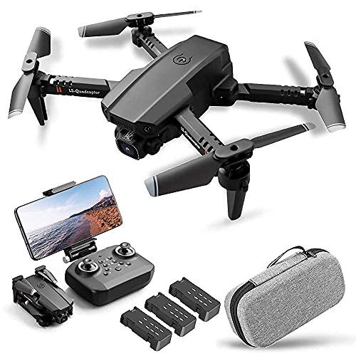 RC Drone Mini Drone 6-Axis Gyro 3D Flip modalit Headless Mantenimento dell'altitudine 12 Minuti di Volo RC Qudcopter per Bambini Adulti (Colore: 3 batterie, Dimensioni: Doppia Fotocamera 4K)