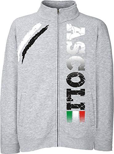 Generico Giacchino Ascoli Tifosi Ultras Calcio Sport dalla S alla XXL e 4 Colori Disponibili(S, Grigio)