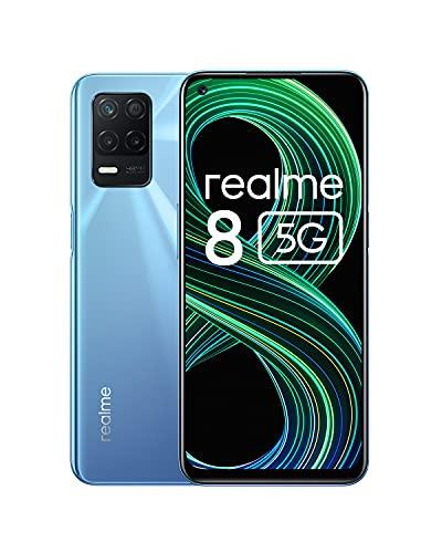 realme 8 5G Telephone Portable, Smartphone Debloqué et Processeur Dimensity7005G, Écran...