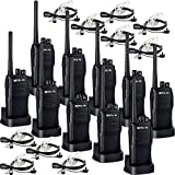 Retevis RT21 Two Way Radio Rechargeable 2 Way Radios VOX Emergency Commercial Long Range Walkie Talkies with Secret Service Earpiece (10 Pack)