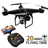 JJRC H68 Drone with Camera for Adults, 20MINS Longer Flight Time Drone with 720P Camera FPV WiFi RC Quadcopter with Altitude Hold, Headless Mode for Beginners with One Key Start/Land, 3D Flips