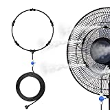 Dr. Prepare Outdoor Misting Fan Kit for Patio backyard, 16.4ft Mist Hose Mister Fan, Water Misters for Cooling Patios, Portable Misting System for Mist Fan, Independent Valve for Water Control