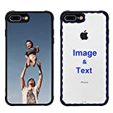 MXCUSTOM Custom Apple iPhone 8 Plus iPhone 7 Plus Case, Customized Personalized with Photo Image Text Picture Design Make Your Own Phone Cases Covers [Soft TPU Bumper+Clear Hard PC Back] (PHT-BK-P1)