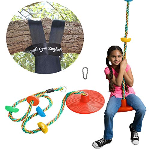 Jungle Gym Kingdom Tree Swing Climbing Rope Multicolor with Platforms...