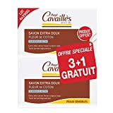 Rogé Cavaillès Savon Surgras Extra-Doux Fleur de Coton Lot de 3 x 250 g + 1...