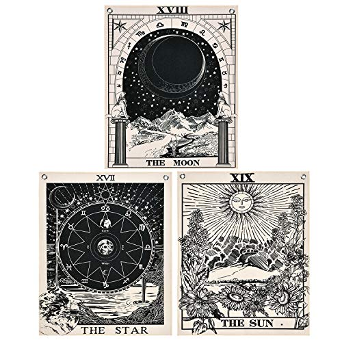 Likiyol Pack of 3 Tarot Tapestry The Sun The Moon The Star...