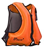NAXER Inflatable Buoyancy Vests Kayak Buoyancy Aid for Adults 90-220 lbs