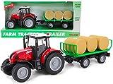 Toyland Tracteur et remorque 37 cm Rouges avec lumières et Son - Jouets de...