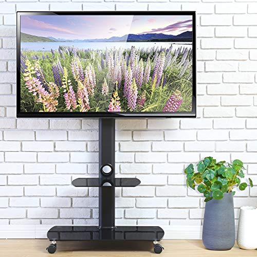 FITUEYES テレビスタンド 23~55インチ対応 壁寄せテレビスタンド 高さ調節可能 ラック回転可能 ブラック TT206501GB
