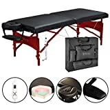 Master Massage 30' Roma Therma-Top Portable Massage Table Pro Package, Black, Adjustable Heating System