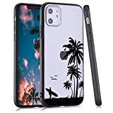 LuGeKe Palm Leaf Phone Case for iPhone XR,Hawaii Beach Patterned Case Cover,Hard PC Back with TPU BumperAnti-Stratch Bumper Protective Cute Boys Phonecase(Summer Beach)