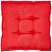 45x45 cao phẳng futon màu xám bên cạnh dệt đỏ