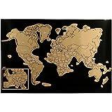 Promobo - Poster Carte du Monde avec Pays A Gratter Globe Trotter Enfant...