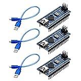 Yizhet 3 x Nano V3.0 ATmega328 CH340G 5V 16MHz Microcontrôleur Module Soudé...