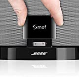 Smof Expert 30 Pin Bluetooth Adapter, Bluetooth Adapter for Bose Sounddock Link iPod/iPhone, Bluetooth Adapter for Stereo Receive