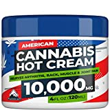 Hemp Cream for Pain Relief - 10,000 Strength Hemp Oil - Made in USA - Natural Treatment for Joint, Muscle, Sciatica & Back Pain Relief - Hot Cream with Menthol & Eucalyptus