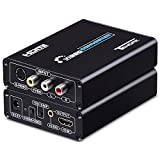 Tendak 3RCA AV CVBS Composite & S-Video R/L Audio to HDMI Converter Adapter Support 720P/1080P with 3RCA S-Video Cable for NES SNES N64 PS2 PS3 HDTV