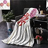 EDZEL Sofa Blanket Colorful Lolly Pops on Sticks Lightweight Super Soft Comfort 93x70 Inch