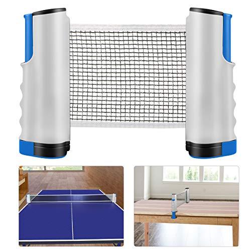 Weeygo Tischtennisnetze Tischtennis Netze, Justierbarer Einziehbares Netz Ping Pong Ersatznetz, Beweglicher Reisehalter - Einstellbare Länge 200(max) x 14,5cm